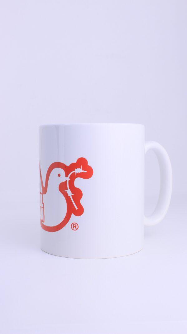 Купить в Украине Peaceful Hooligan Dove Mug Red Оригинал