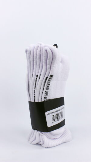 Weekend Offender FO Mondays Sports Socks White