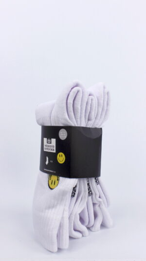 Weekend Offender Smiley Sports Socks White