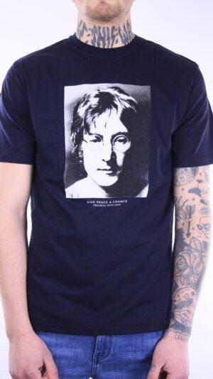 Peaceful Hooligan Lennon T-Shirt Navy