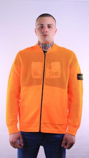 Stone Island Fluo Knitwear Sweatshirt In Orange