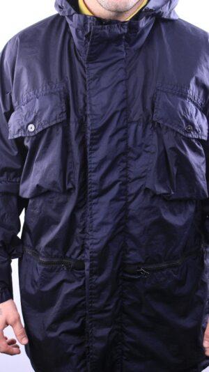 Stone Island Parka Membrana 3L-TC Jacket in Navy