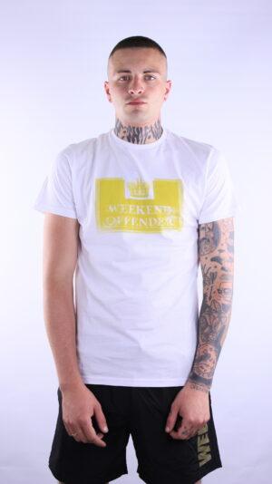 Купить в Украине Weekend Offender Distressed Prison T-Shirt White/Sulphur Оригинал