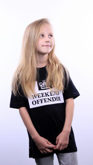 Weekend Offender Kids Prison T-Shirt Black
