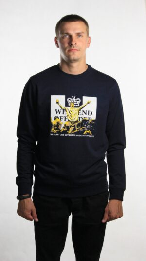 Купить в Украине Weekend Offender Leo Gregory Sweatshirt Navy Оригинал