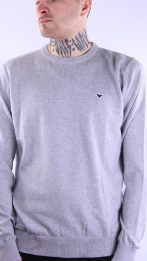 Weekend Offender Napoli Knitwear Grey Marl