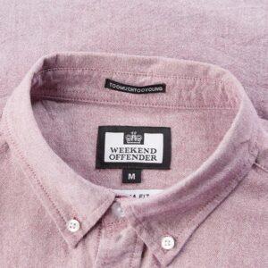 Weekend Offender Pallomari Shirt Garnet