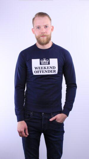 Купить в Украине Weekend Offender Penitentiary Sweatshirt Navy Оригинал