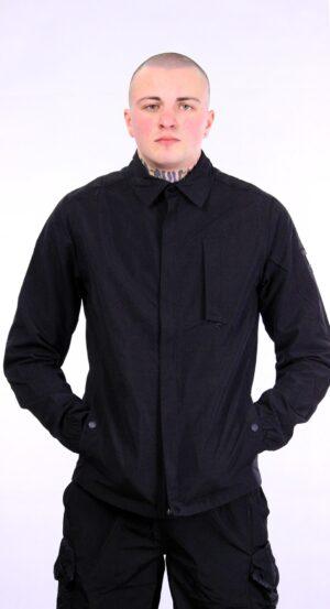 Weekend Offender Sorvino Over-Shirt Black