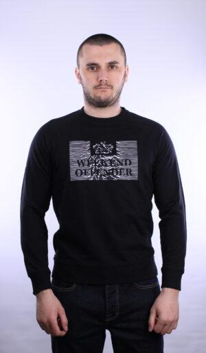 Weekend Offender Unknown Pleasures Sweatshirt Black