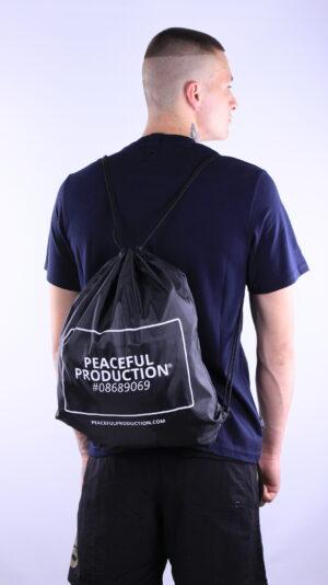 Peaceful Production Gym Sack Black