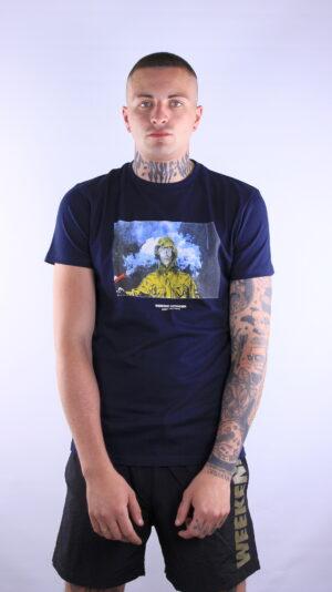 Купить в Украине Weekend Offender Fusee T-Shirt Navy Оригинал
