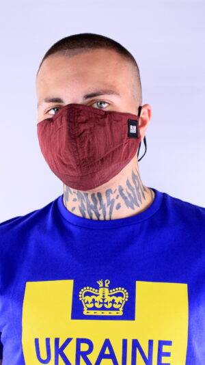 Weekend Offender Ripstop Face Mask Morello