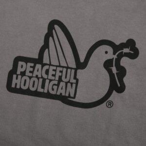 Peaceful Hooligan Hoodie Outline Pewter